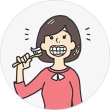 歯茎をきれいにしたい(イメージ)
